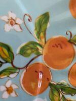 "SHABBY CHIC set/ 4 10.5"" round  Lemon Orange pattern melamine dinner plates NWT"
