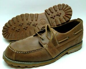Timberland Mens Leather Shoes Size 11 Brown Lace Up 6845A