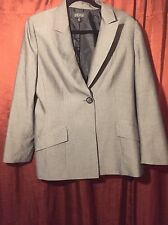 KASPER Separates Gray Suit Jacket Size 14