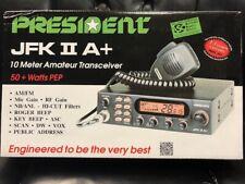 President JFK II A+  AM/FM/PA, Black 10 Meter Amateur Mobile Radio BRAND NEW