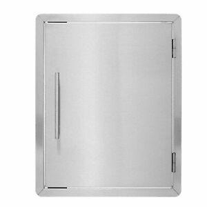 AdirHome 17 X 22 Stainless Steel Outdoor BBQ Access Island Door W/Towel Holder