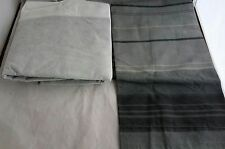 TWIN SIZE Gray Stripe pillow SHAM & solid Charcoal bed SKIRT set new Mainstays