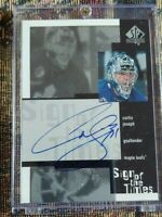 1999-00 CURTIS JOSEPH SP Authentic Sign of the times autograph Maple Leafs auto