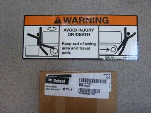 Bobcat Escavatore Adesivo Sicurezza Decal Stay Trasparente Warning 7169006