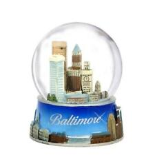 Baltimore Snow Globe From Maryland. Souvenir Snow Globe Of Baltimore Sky