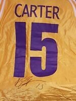 2001 Mr. Big 1/1 Vince Carter Worn/Signed Authentic Jersey (BAS COA 9/10) A23814
