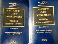 CALJIC California Jury Instructions Criminal 2014 New Paperback Thomson Reuters