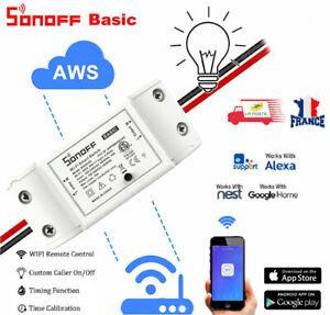 Interrupteur WiFI DIY sans Fil SONOFF Basic compatible Smart Home Intelligent