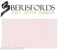 Berisfords Double Satin Ribbon 35 Colours 5 Widths 3 Lengths Pale Pink #70 3mm X 3mtrs