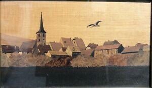 Charles Spindler 1865-1938 marqueterie Alsace Mittelbergheim