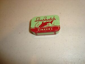 Vintage Shurkatch Splitshot Sinker Tin, Ex,