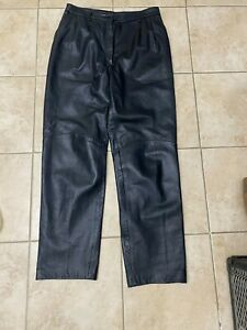 Michael Hoban North Beach Leather Pants Size 14 Women's used