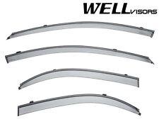 For 04-09 Kia Spectra Sedan Clip-On WellVisors Side Window Visors W/ Black Trim