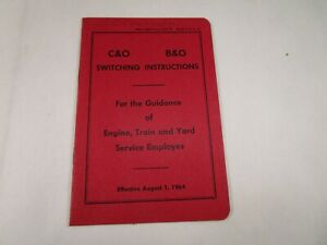 1964 C&O B&O Switching Instructions Guidance Engine Train Yard Service Employees