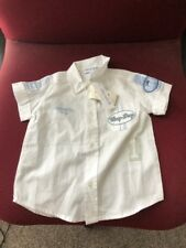 Simonetta Boys' White/with Blue Trim Short Sleeve 100% Cotton Shire-S-9Mon.-Msrp