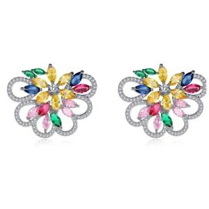 S18 Made Using Swarovski Crystals The Kristena Multi Color Earrings $120