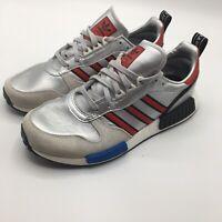 Adidas Rising Star Silver Metallic/Collegiate Red/Cloud White G26777 sz 9 Shoes