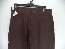 Boy's Brown Wrangler Relaxed Fit Pants. Size 12 Husky. 60% Cotton/ 40% Polyester