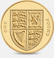2008 Royal Shield of Arms £1 One Pound Coin Uncirculated - Fourth Portrait