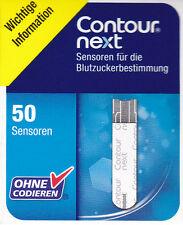 BAYER CONTOUR NEXT BLUTZUCKER TESTSTREIFEN SENSOREN - 50 STÜCK  !!!!!!!!!!!!!!!!