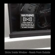 Warning - This home is protected 24hr - Window Sticker / Sign - Alarm - CCTV