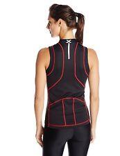 2Xu Women's Multi-Sport Singlet, Black/Neon Red, Small, Retail 79.95