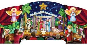 Greatest Story Nativity Stand Up Countdown Calendar BB911 Door a Day Advent