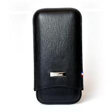 S.T. Dupont Adjustable Case for 3 Cigars, Black Contraste Leather (180319)