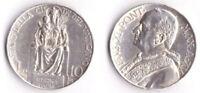 1936 Vaticano Lire 10 Anno Argento Anno XV Pio XI Conservazione Vedi Foto