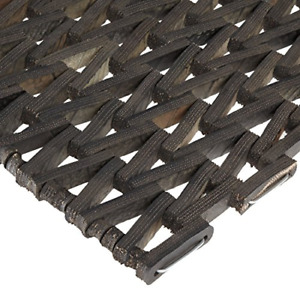 """Durite Recycled Tire-Link Outdoor Entrance Mat Herringbone Weave 24"""" x 36"""""""