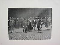 1905 Politica Stampa + Testo ~ M. P'S Proceeding To The Jubilee Servizio