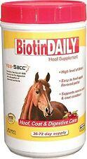 Biotin Daily Hoof Care Durvet 2.5 Lb Apple Flavor Coat Digestive Skin Horse New