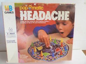 1986 MB Games Popomatic Headache  Board Game. Complete