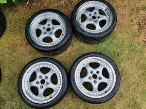 Porsche 911 Staggered Cup Style Alloys, Used. Non OEM