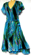 plus sz S-M / 18 VIRTU TS TAKING SHAPE Jalamba Dress knife pleat stunning NWT!