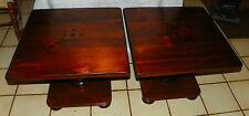 Pair of Pine Ethan Allen Old Tavern End Tables / Side Tables  (T620)