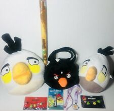 Angry Birds Plushies Bracelets Lanyards Purse Poster Lot of 8 Items
