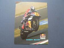 INFO FAN CARD GARRY McCOY WEGRACE ROADRACE REDBULL YAMAHA