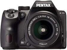 Pentax k-70 SLR KIT NERO + dal18-50re 18 - 55 MM nero NUOVO OVP