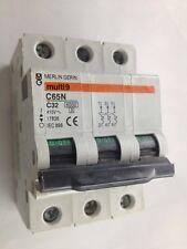Merlin Gerin Multi 9 C65N C32 17836 Interruptor 3 Polo 415V IEC898 Tipo C