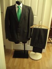 """Suit chest 44M waist 38M By Canda C&A in grey two button jacket Vintage L31""""(76)"""