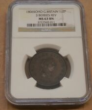 1806-SOHO-G-Britain-1-2-Penny-Coin-George-III-No-Berries-Rev-NGC-MS63 BN