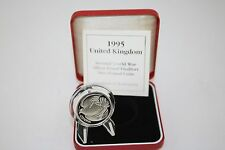 1995 silver proof piedfort £2 coin Dove of peace