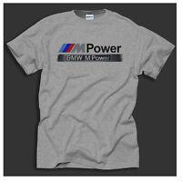 BMW M POWER MOTORSPORT  E30 E39 E60 and 320i Retro Grey Gift T-Shirt