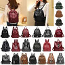 Women's Backpack PU Leather Handbag Rucksack College Shoulder Purse Satchel Bag