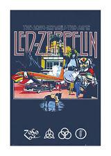 Quadro su pannello in legno MDF Led Zeppelin Remains Misura 60x90 CM