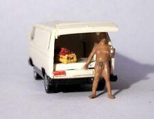 H0  1:87 Modell - Umbau / Gesupert - VW T3 - FKK Figur Tuning Transporter