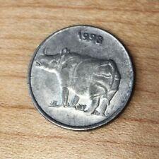 1998 India 25 Paise Rhinoceros