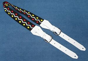 Lennon PEACE USA made DOUBLE BUCKLE Beatles Tribute TROPHY Guitar Strap