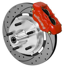 """WILWOOD DISC BRAKE KIT,FRONT,74-80 PINTO,MUSTANG 2,5X5"""",12"""" DRILLED,RED CALIPERS"""